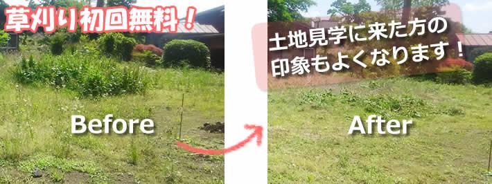 草刈り初回無料!